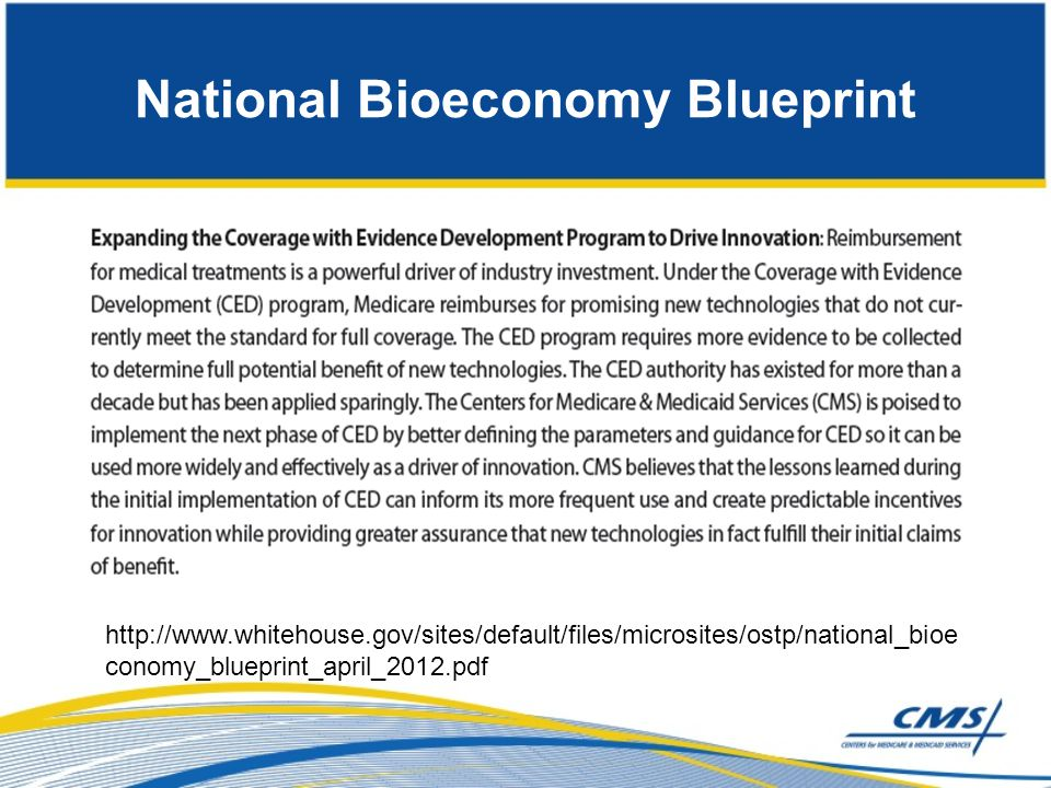 National Bioeconomy Blueprint