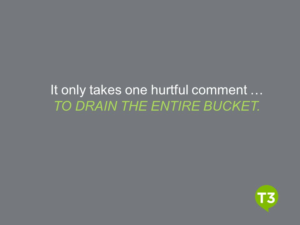 Video Title It only takes one hurtful comment …