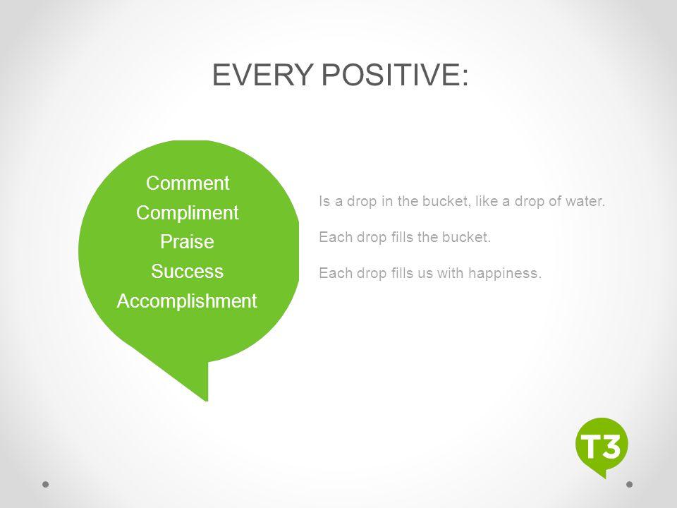 EVERY POSITIVE: Comment Compliment Praise Success Accomplishment