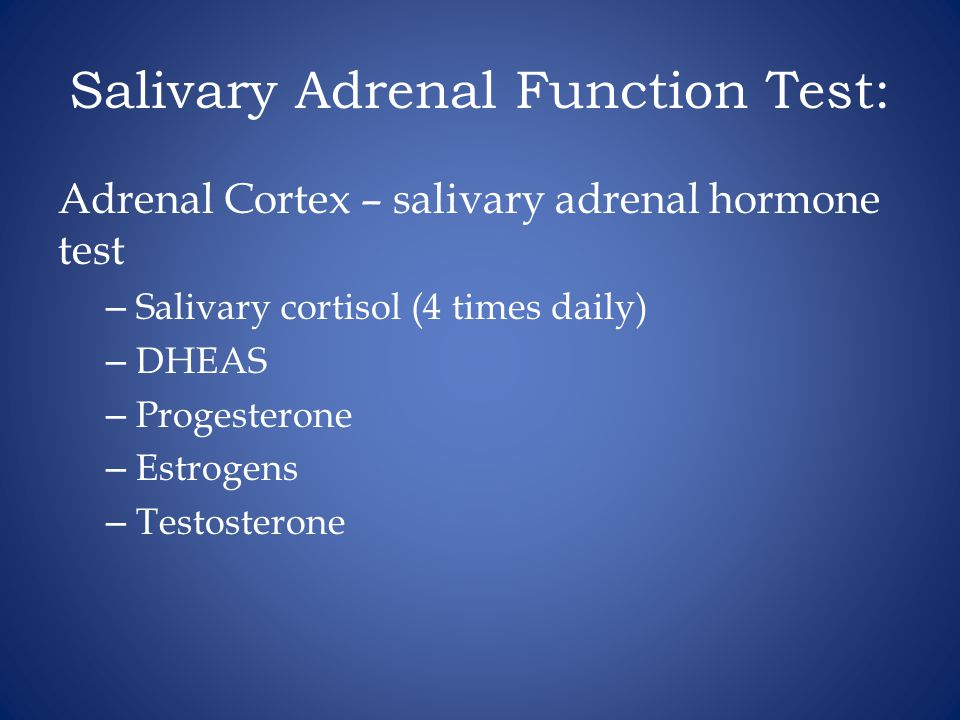 Salivary Adrenal Function Test: