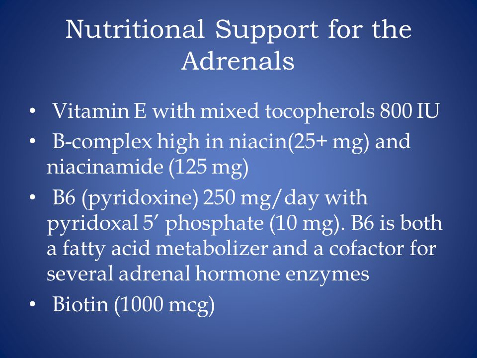 Nutritional Support for the Adrenals