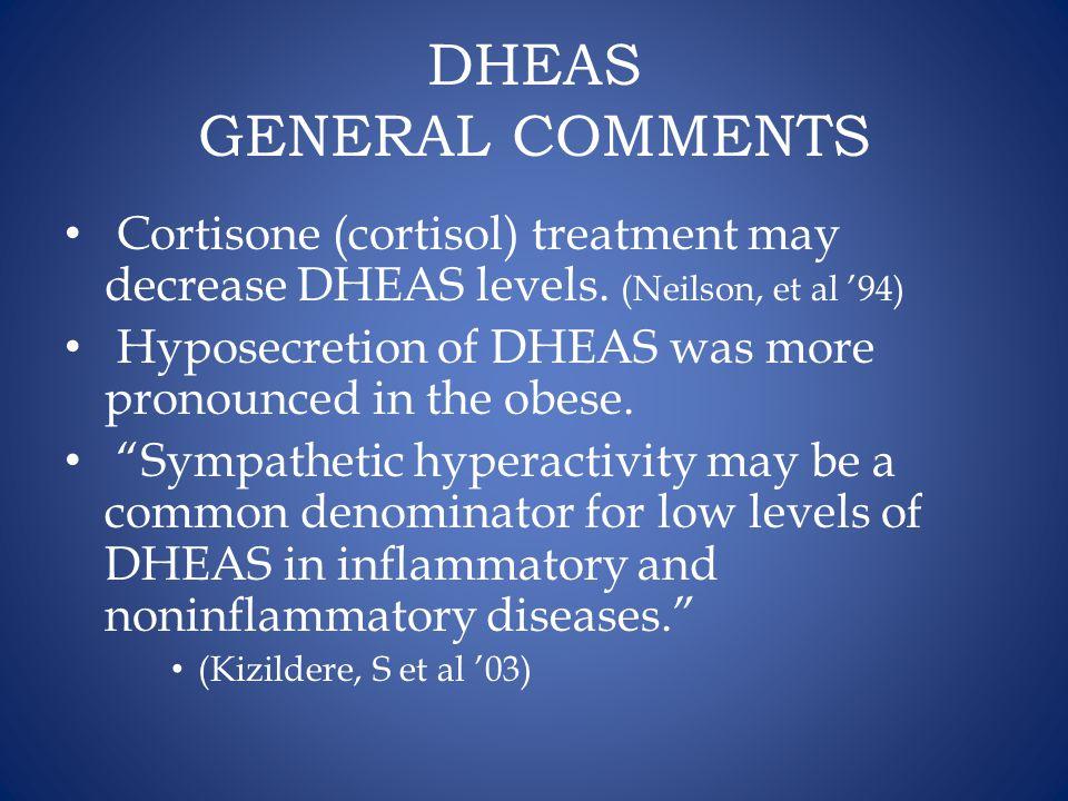 DHEAS GENERAL COMMENTS