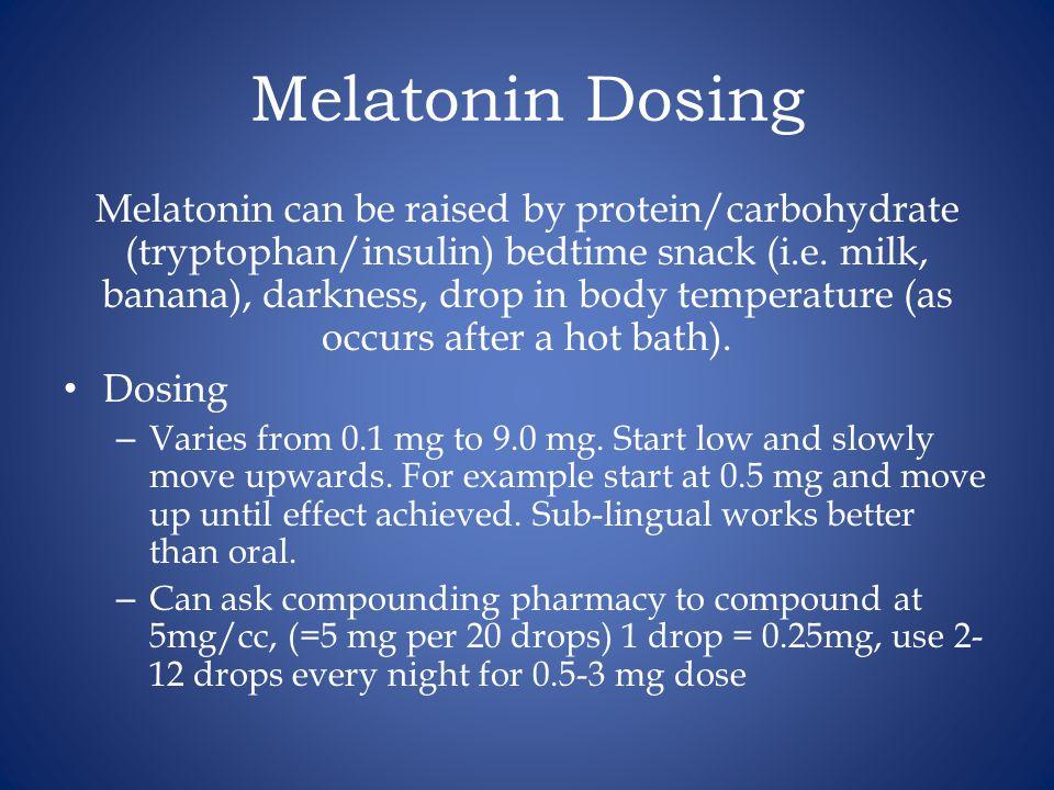 Melatonin Dosing