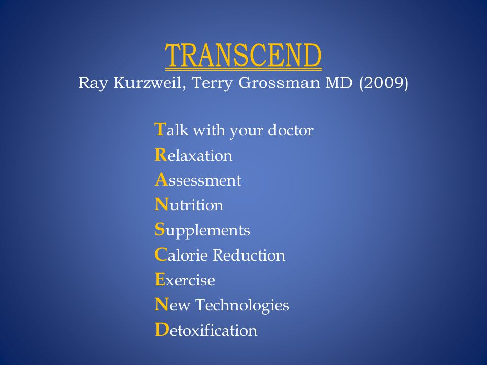TRANSCEND Ray Kurzweil, Terry Grossman MD (2009)
