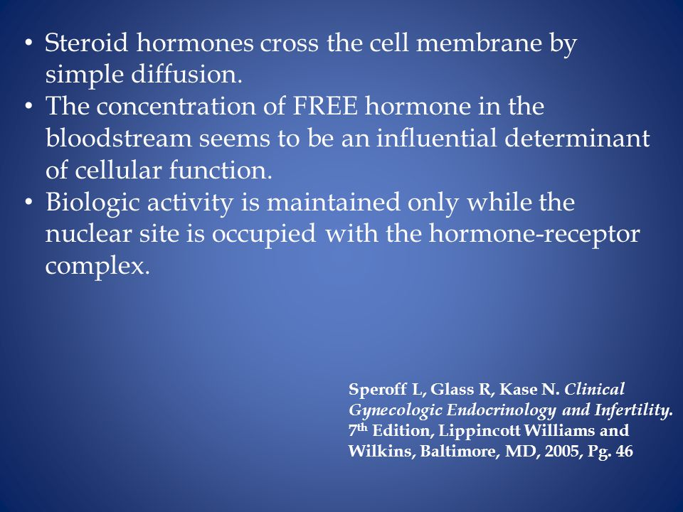 Steroid hormones cross the cell membrane by simple diffusion.
