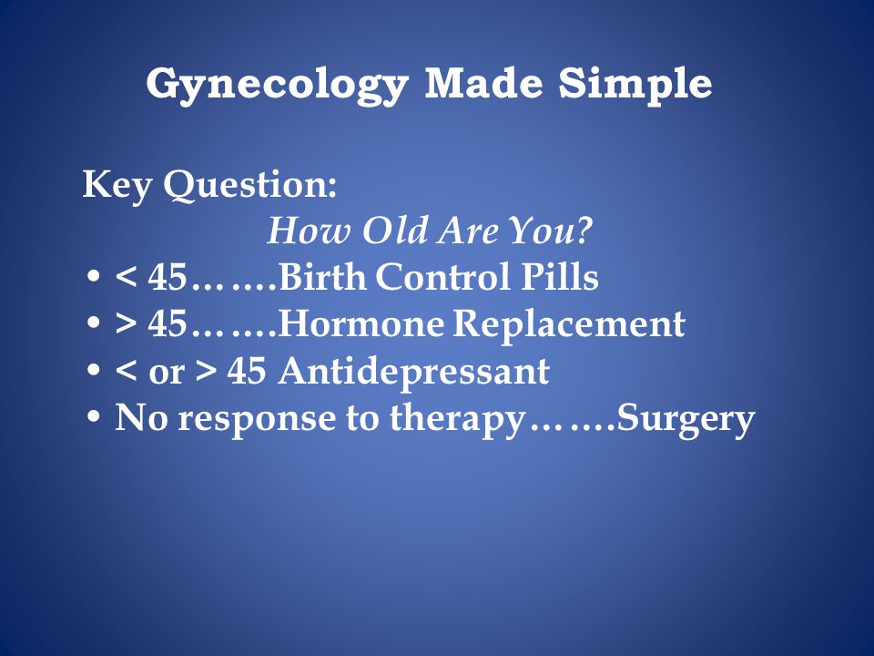 Gynecology Made Simple