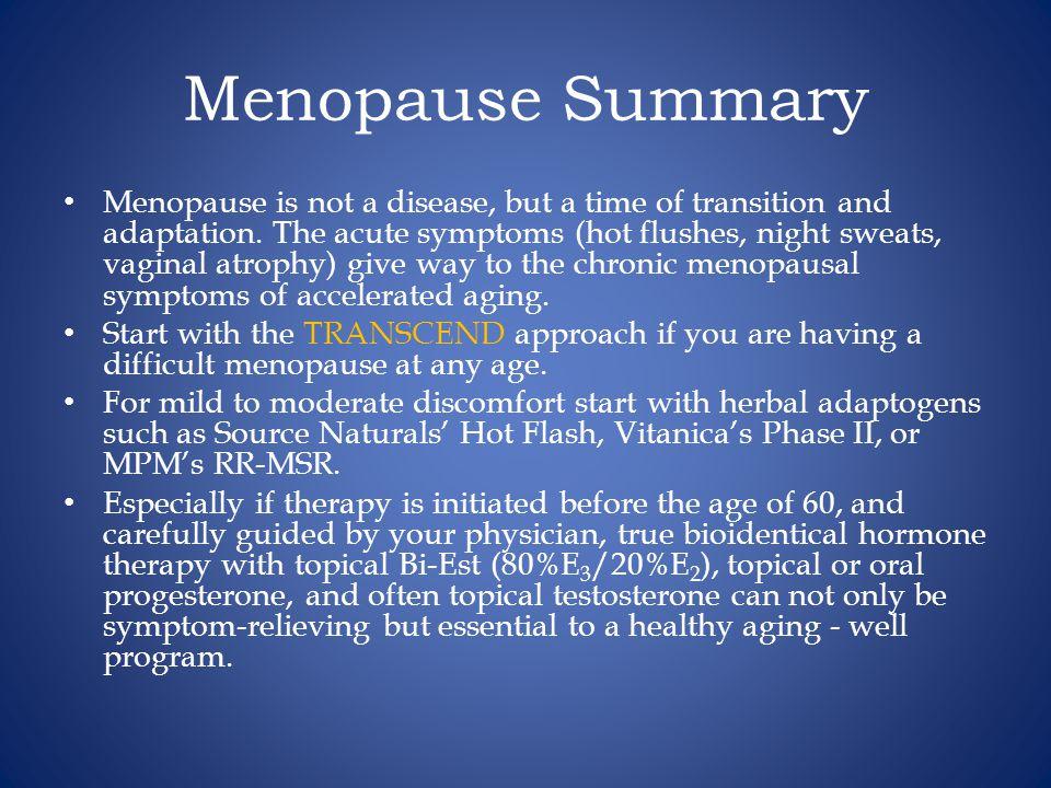 Menopause Summary