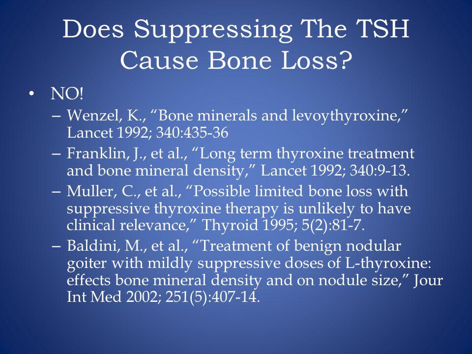 Does Suppressing The TSH Cause Bone Loss