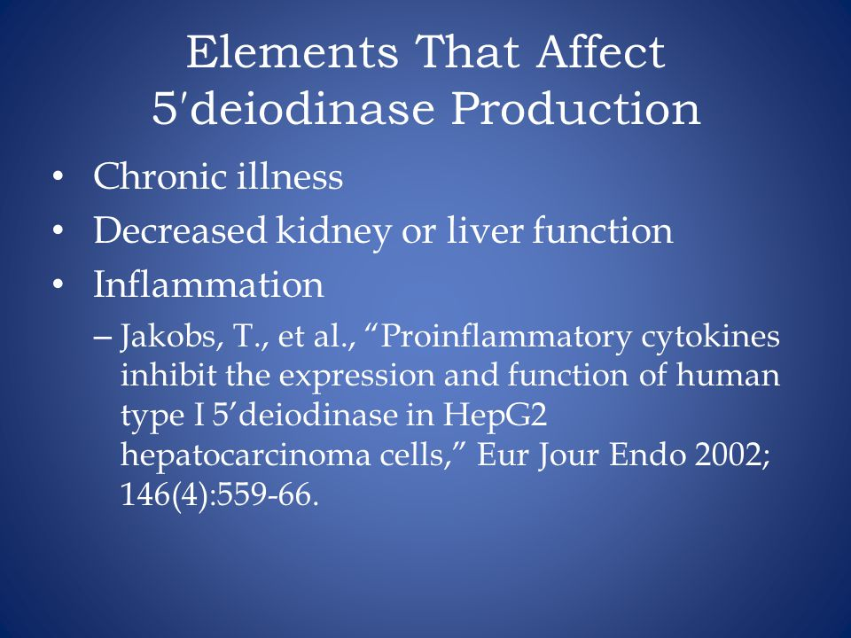 Elements That Affect 5′deiodinase Production