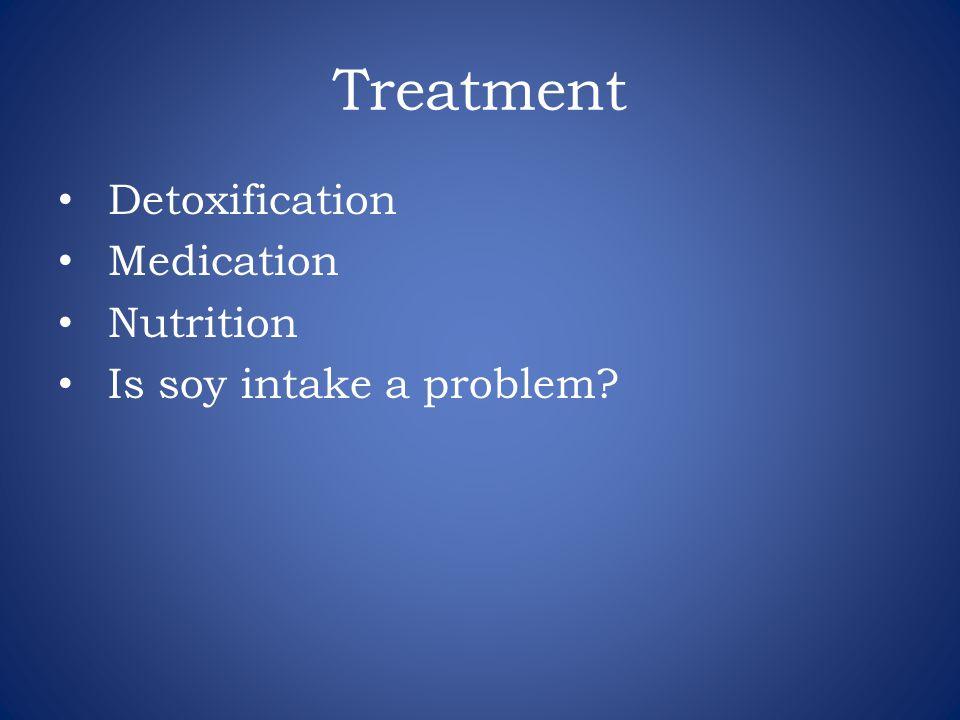 Treatment Detoxification Medication Nutrition Is soy intake a problem