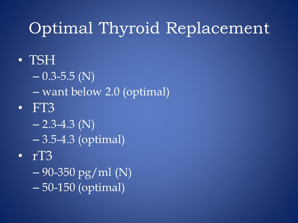 Optimal Thyroid Replacement