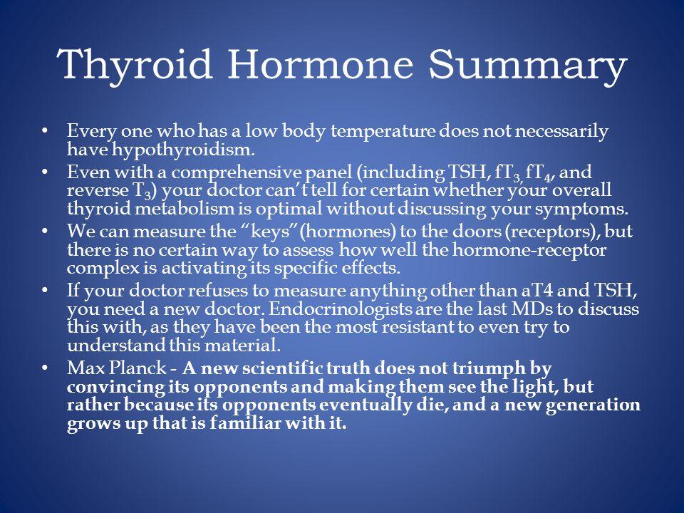 Thyroid Hormone Summary