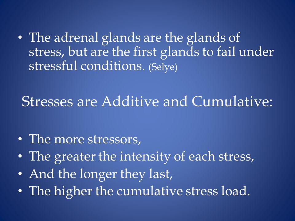 Stresses are Additive and Cumulative: