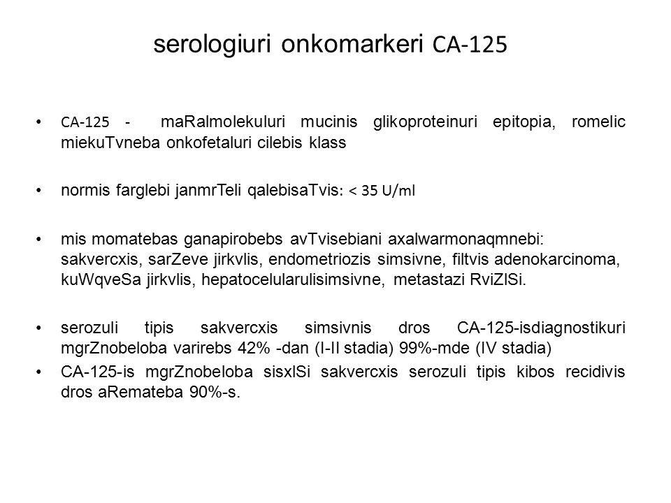 serologiuri onkomarkeri CA-125