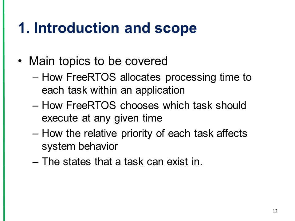 1. Introduction and scope