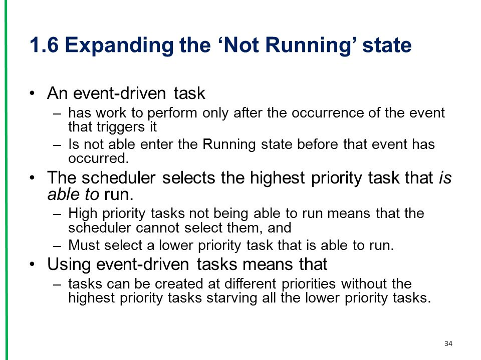 1.6 Expanding the 'Not Running' state