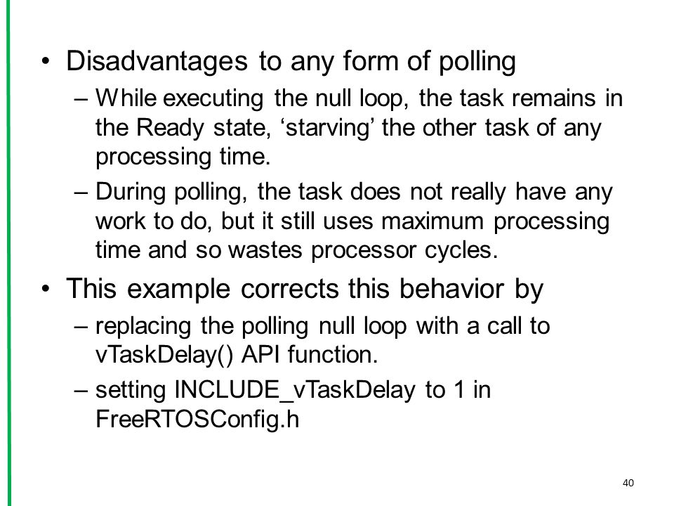 Disadvantages to any form of polling