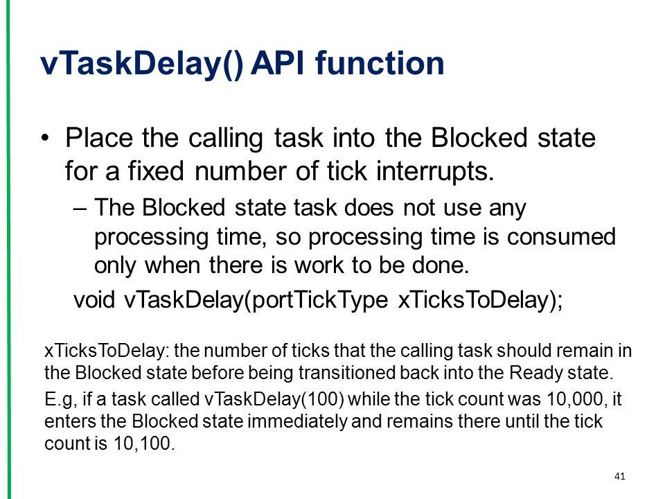 vTaskDelay() API function
