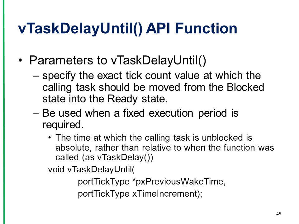 vTaskDelayUntil() API Function