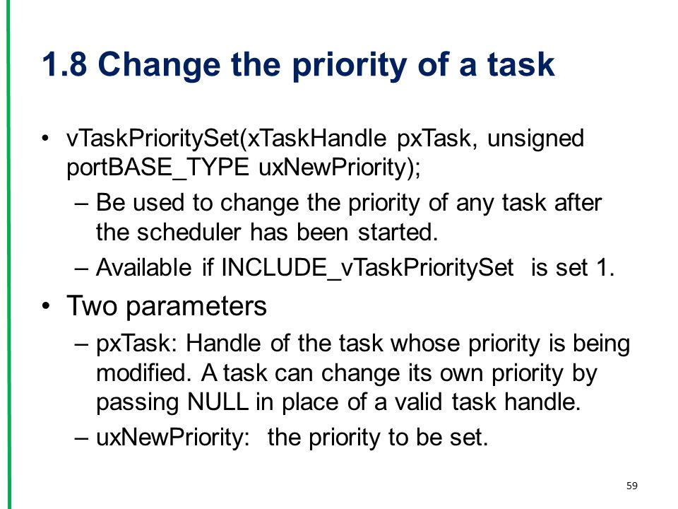 1.8 Change the priority of a task