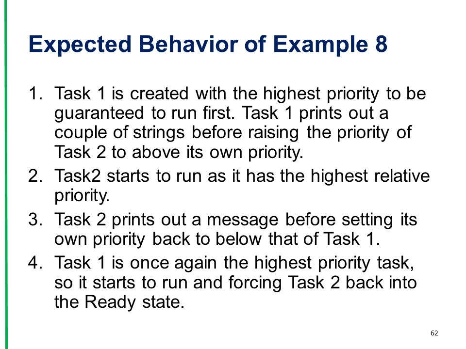 Expected Behavior of Example 8