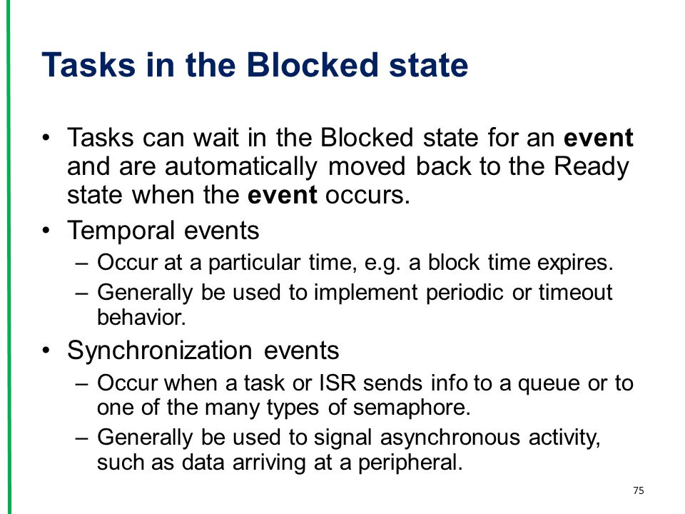 Tasks in the Blocked state