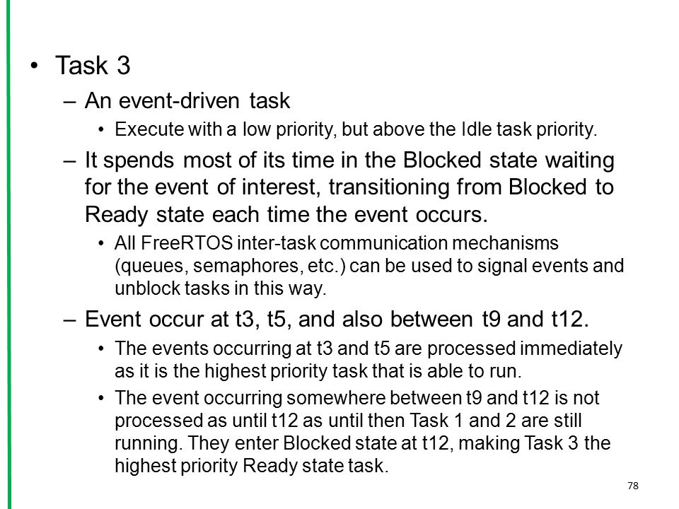 Task 3 An event-driven task
