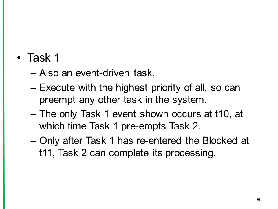 Task 1 Also an event-driven task.