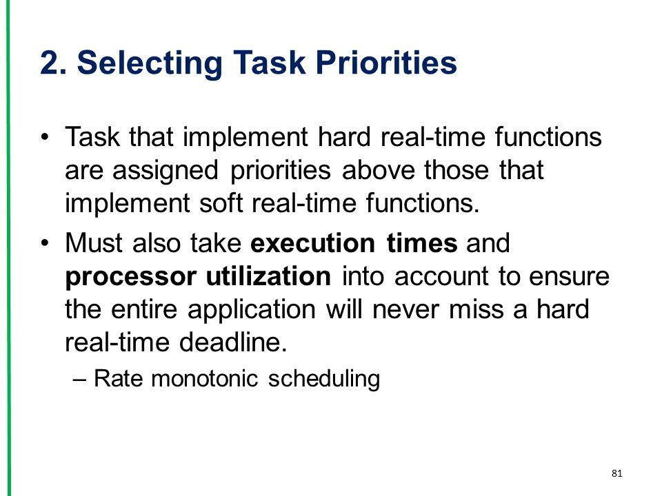 2. Selecting Task Priorities