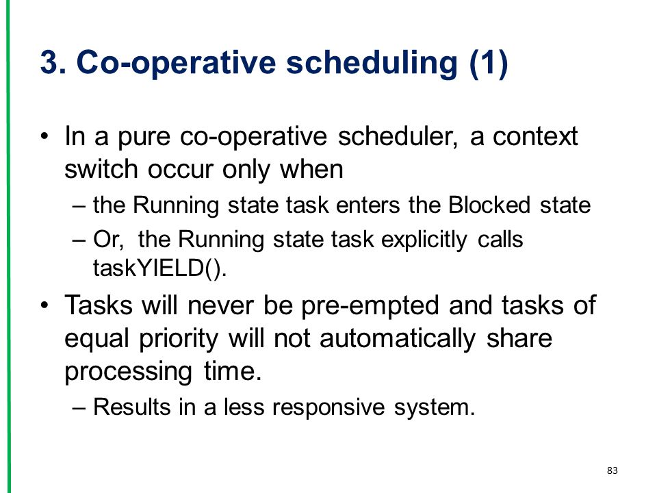 3. Co-operative scheduling (1)