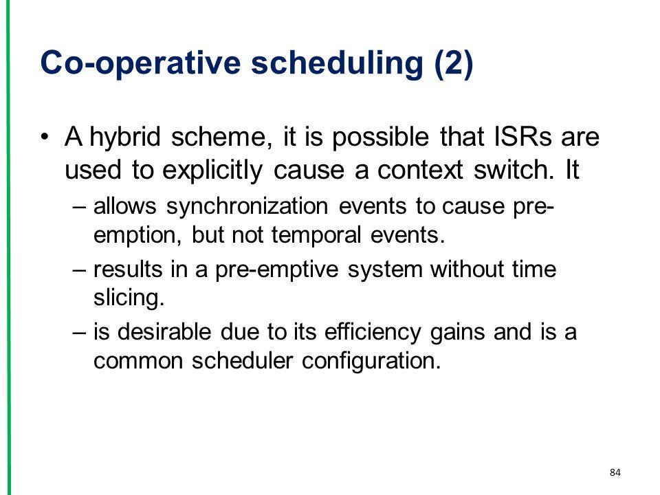 Co-operative scheduling (2)