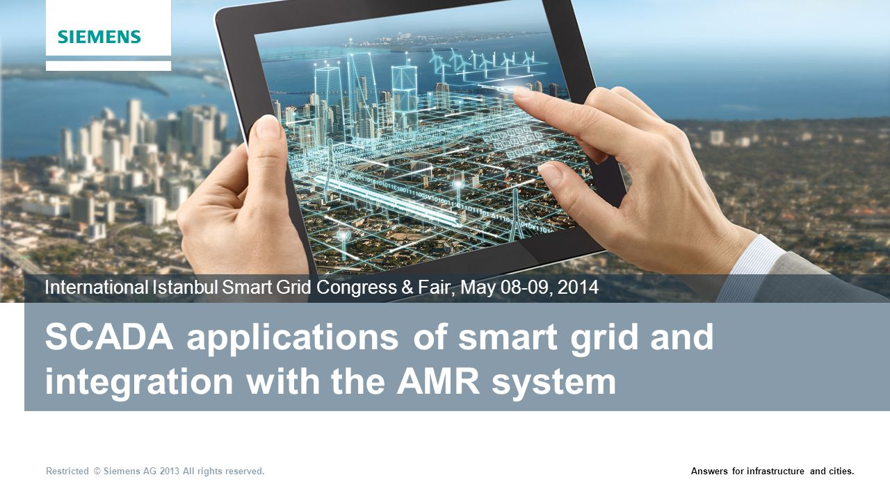 SCADA applications of smart grid and integration with the AMR system