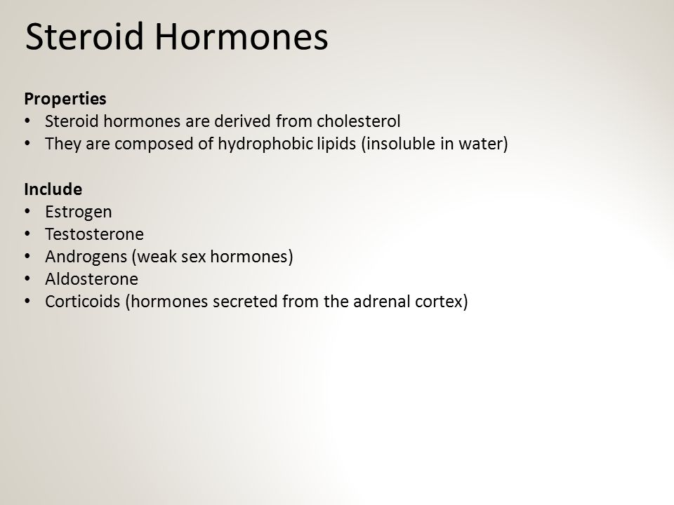 Steroid Hormones Properties