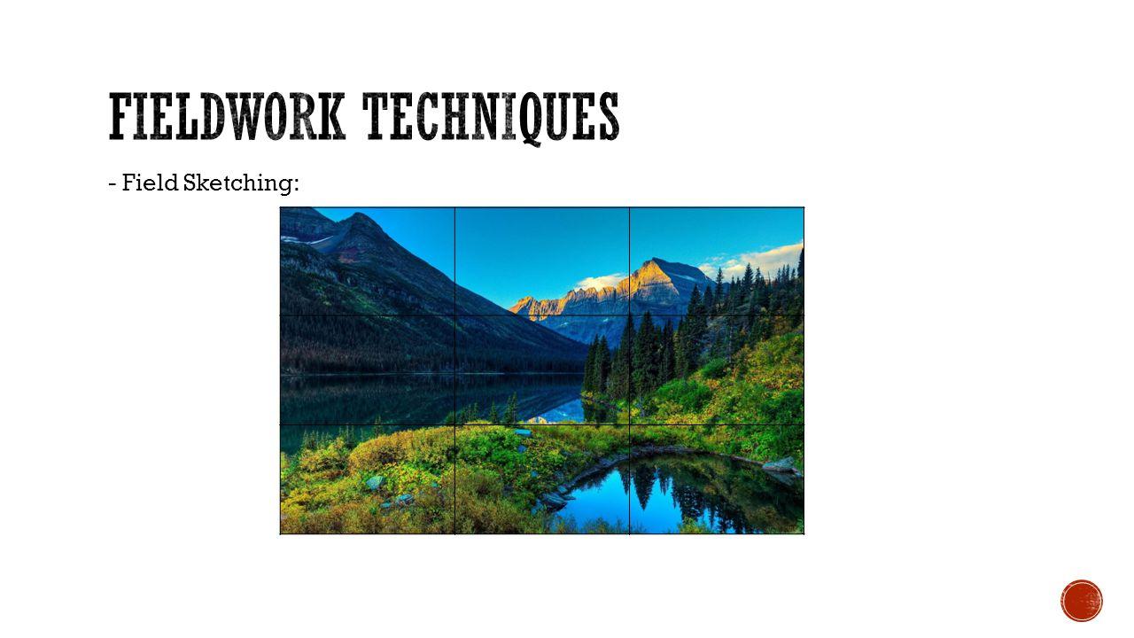 Fieldwork Techniques - Field Sketching: