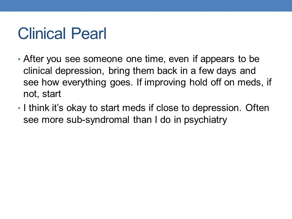 Clinical Pearl