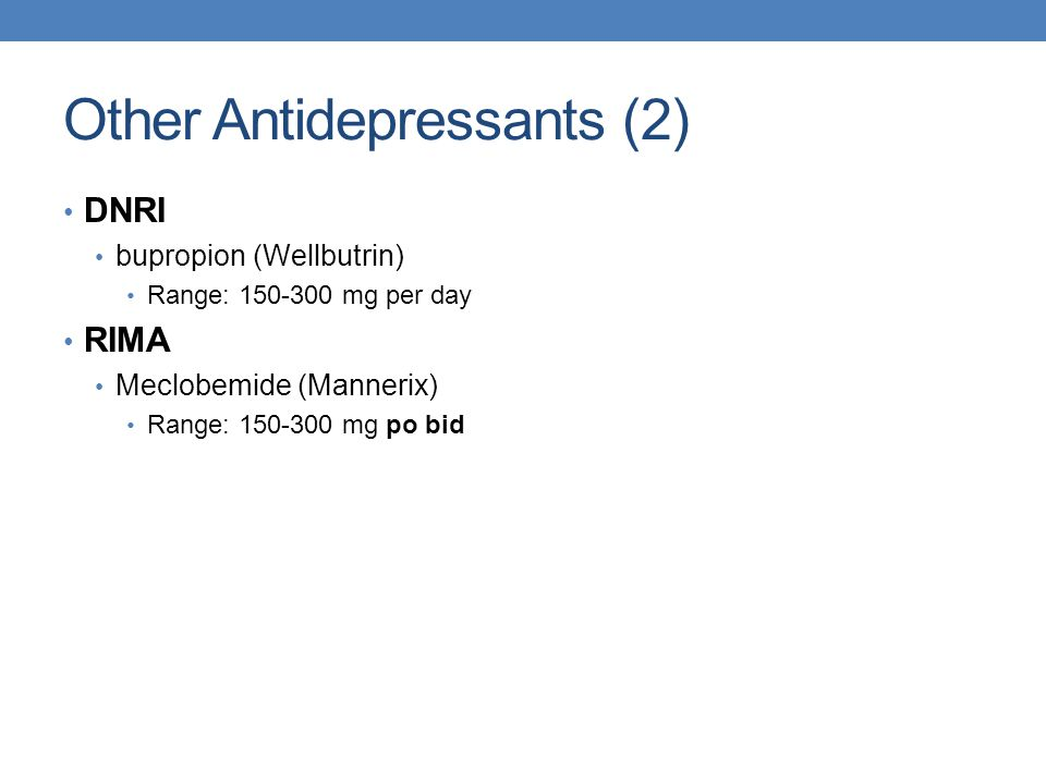 Other Antidepressants (2)