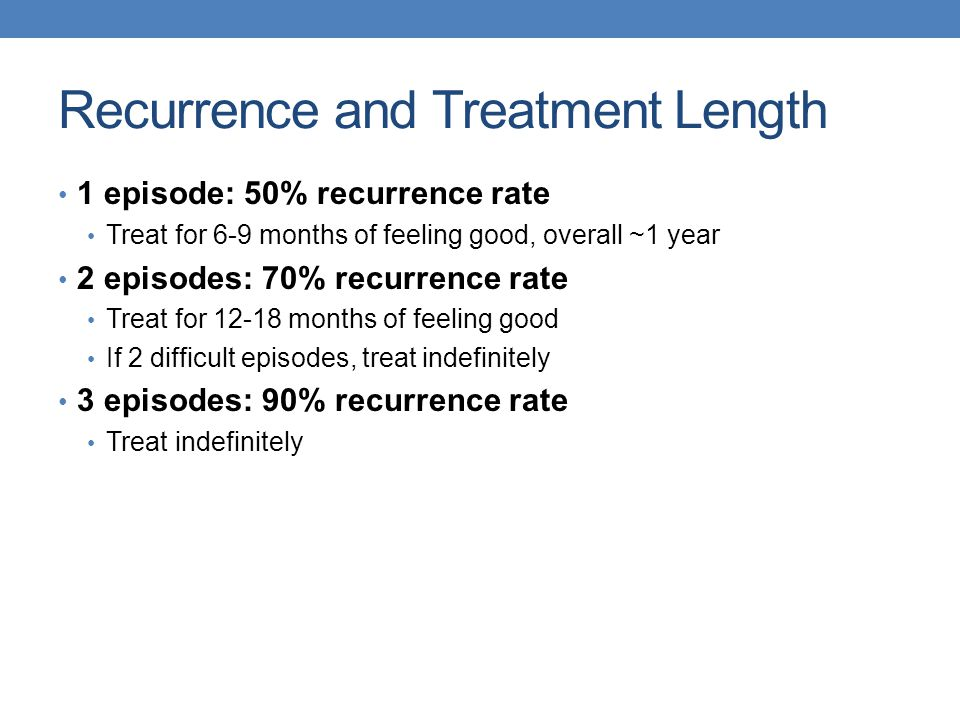Recurrence and Treatment Length