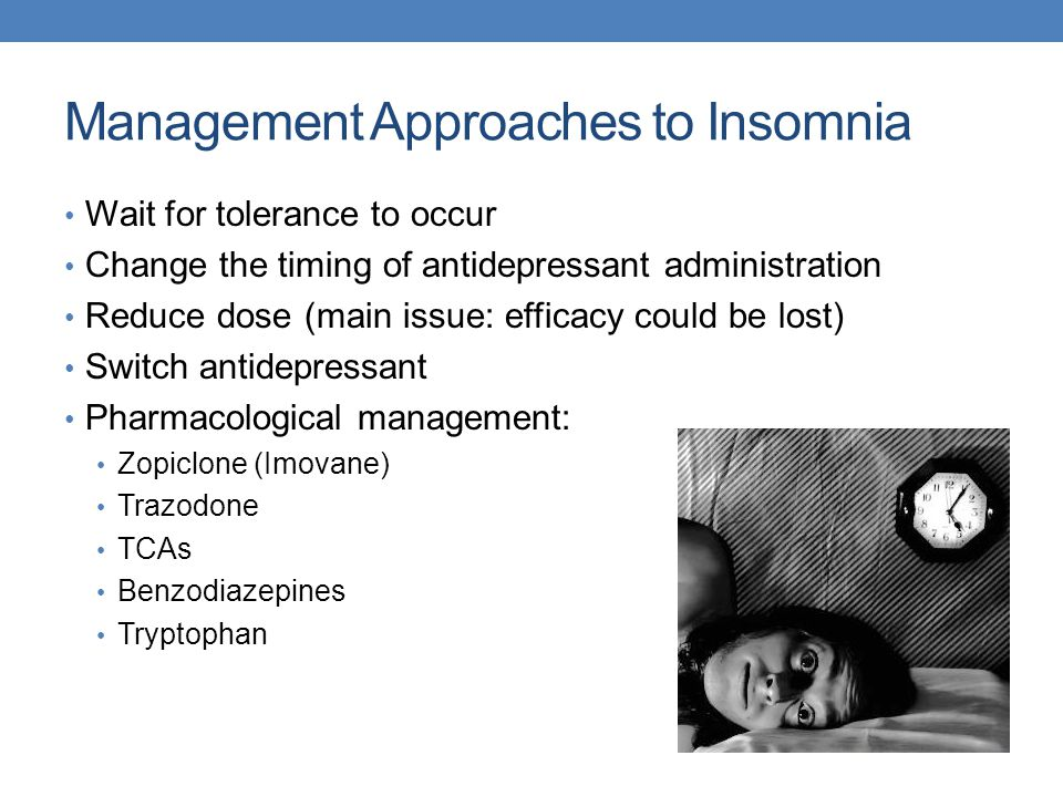 Management Approaches to Insomnia