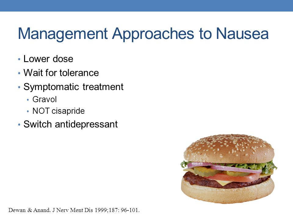 Management Approaches to Nausea