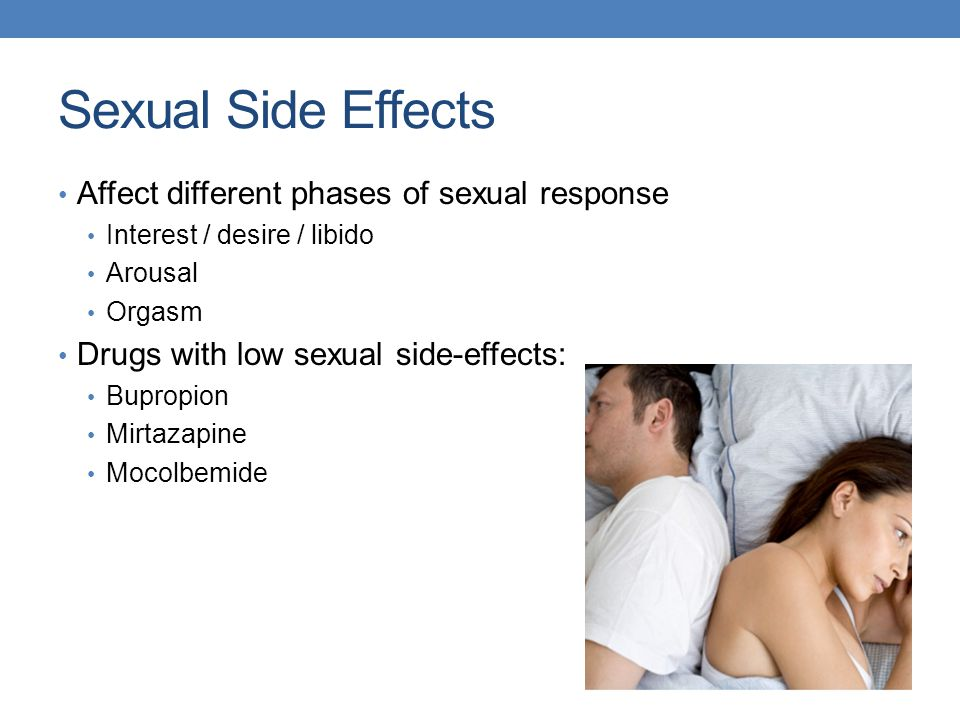Sexual Side Effects Affect different phases of sexual response