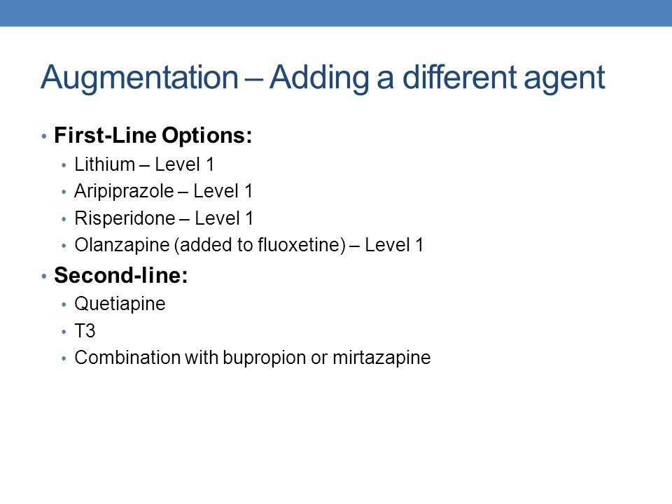 Augmentation – Adding a different agent
