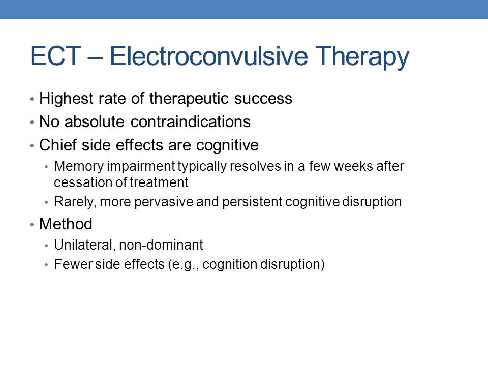 ECT – Electroconvulsive Therapy
