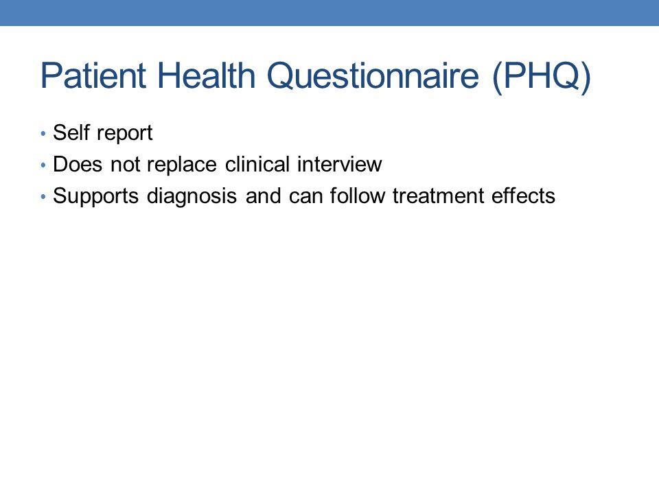 Patient Health Questionnaire (PHQ)