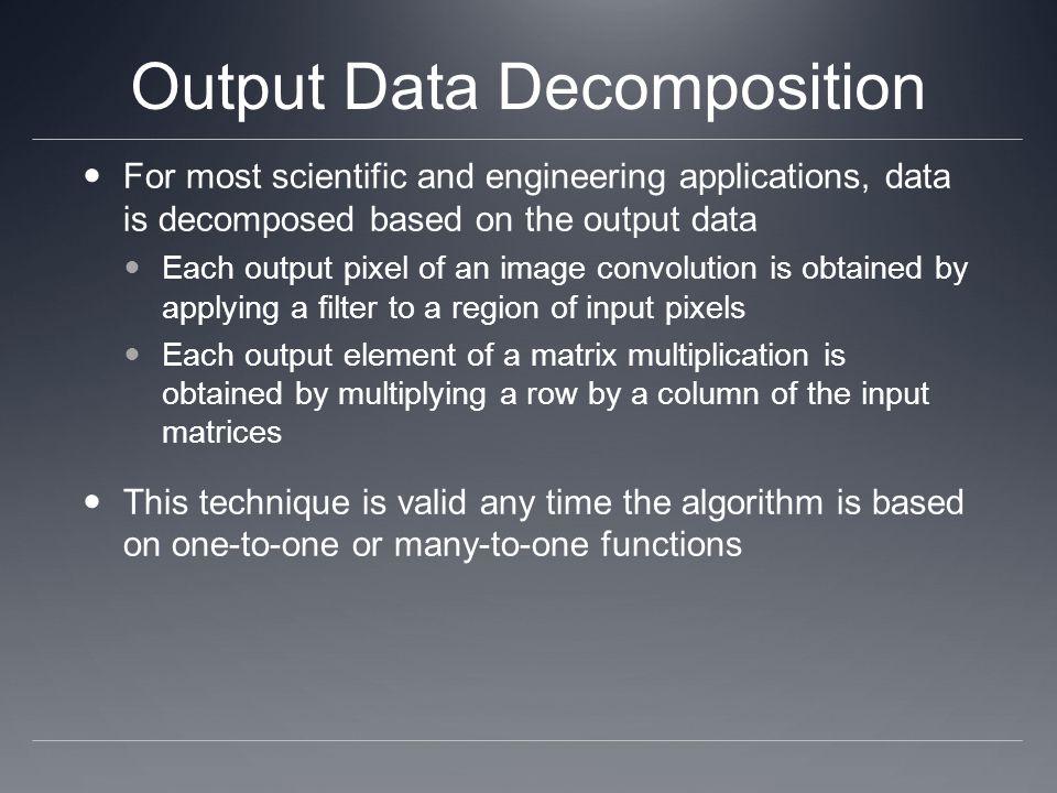 Output Data Decomposition