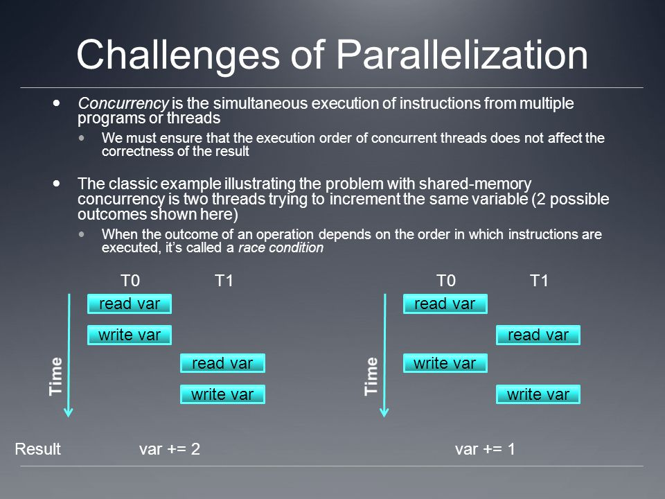 Challenges of Parallelization