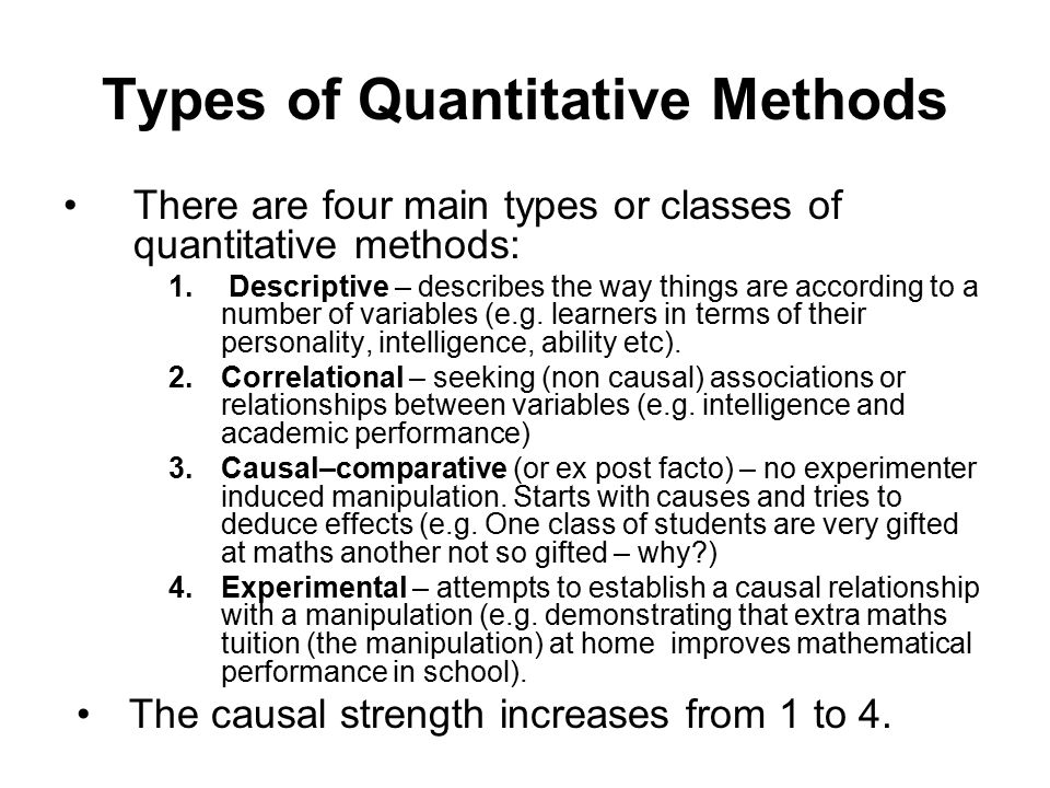 How Quantitative Research Works
