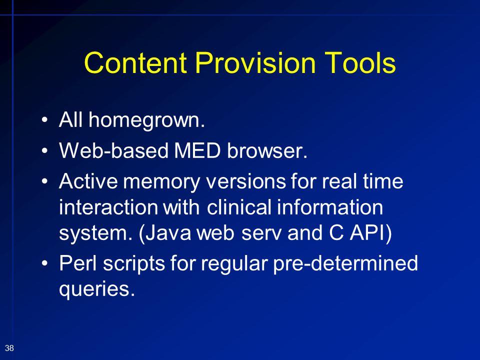 Content Provision Tools