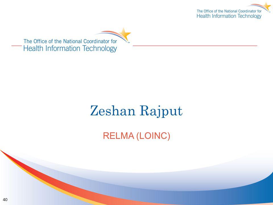 Zeshan Rajput RELMA (LOINC)