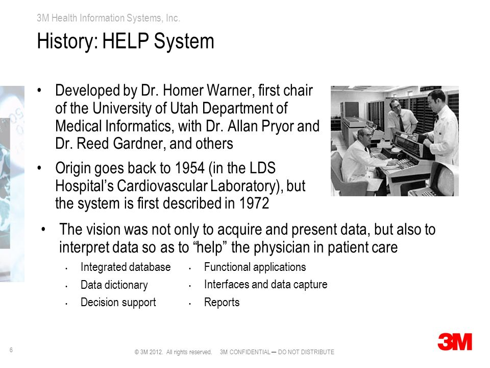 History: HELP System