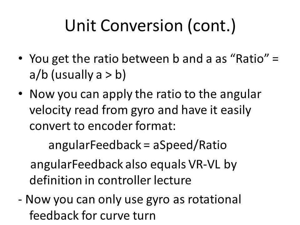 Unit Conversion (cont.)
